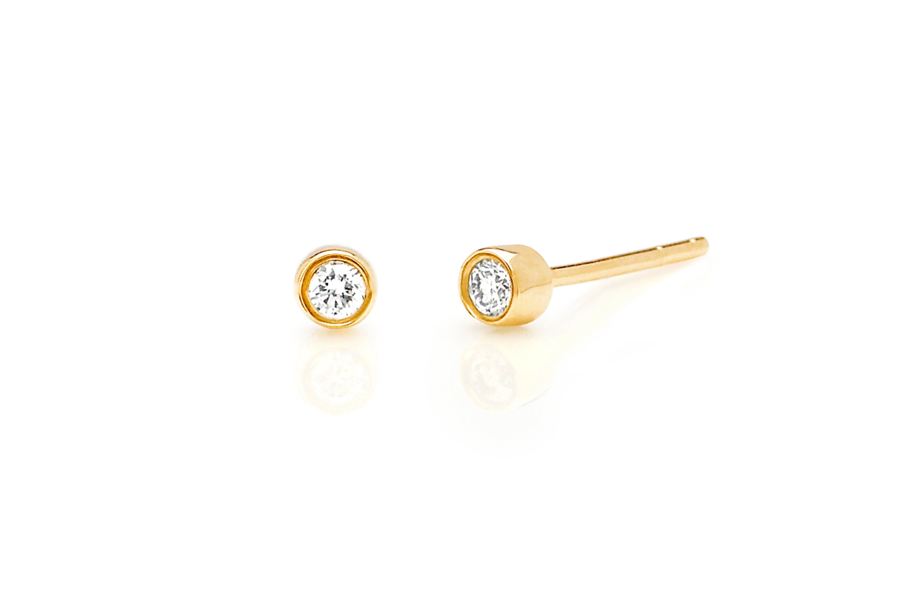 Diamond Bezel Stud Earring