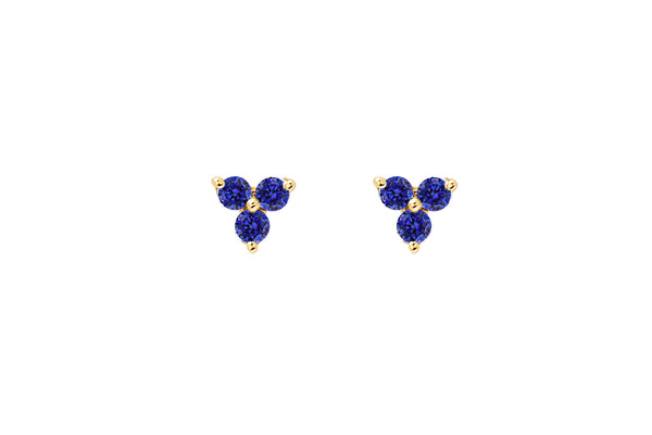EF Collection Blue Sapphire Trio Studs - 1