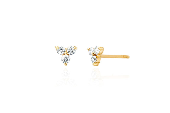 EF Collection Diamond Trio Stud Earring - 1