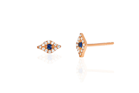 Mini Diamond Evil Eye Stud Earring