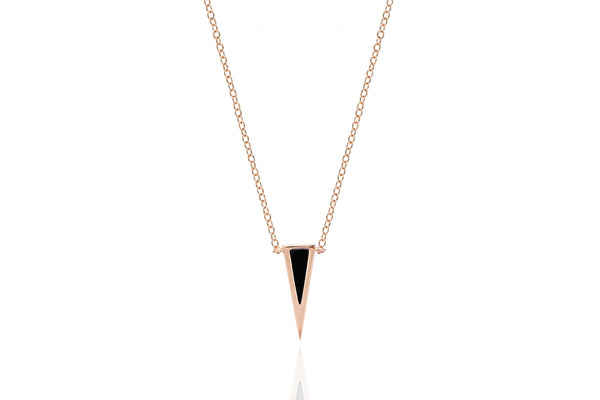 EF Collection Mini Onyx Dagger Necklace