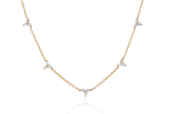 EF Collection Diamond 5 Trio Necklace - 1