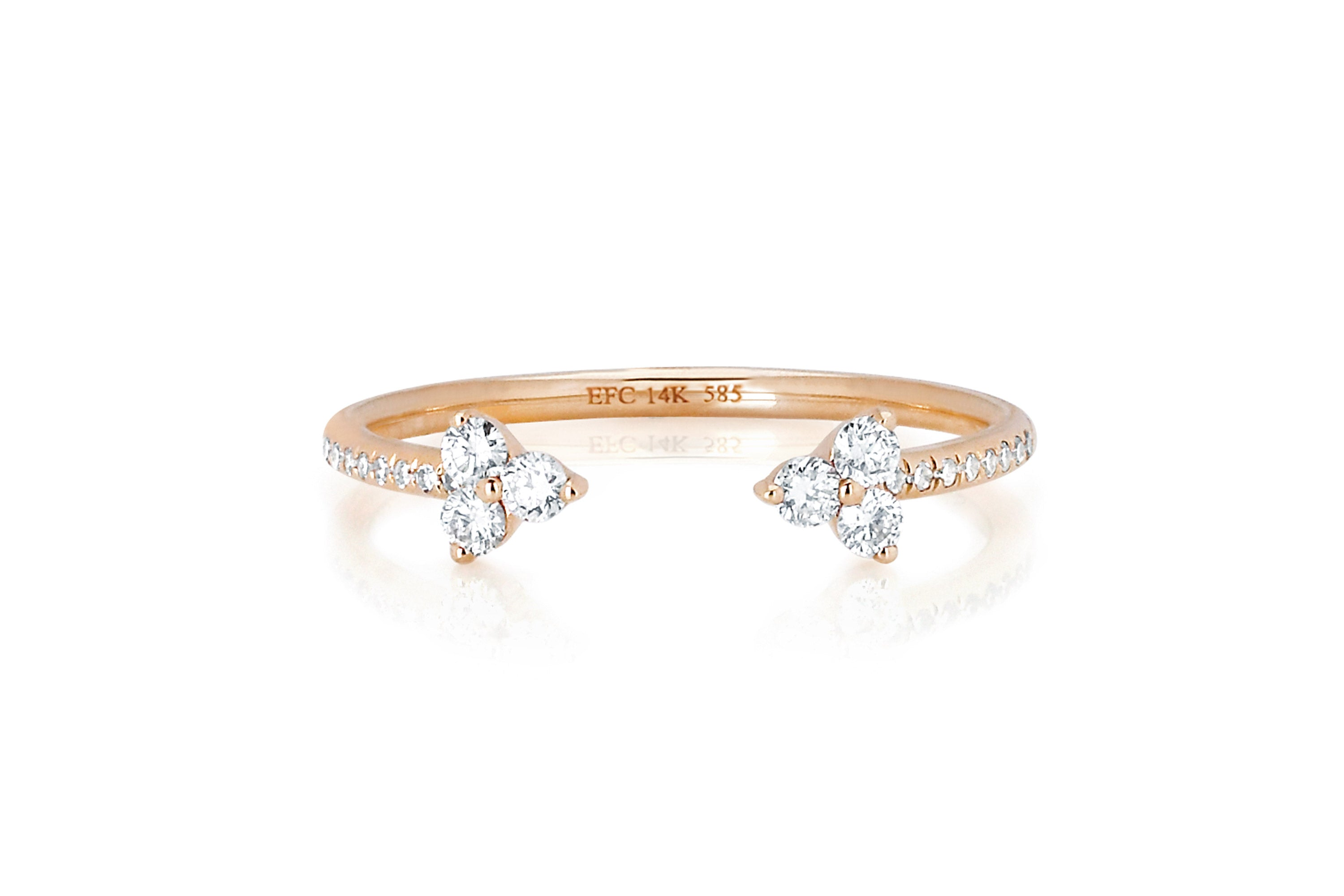 Open Diamond Trio Ring