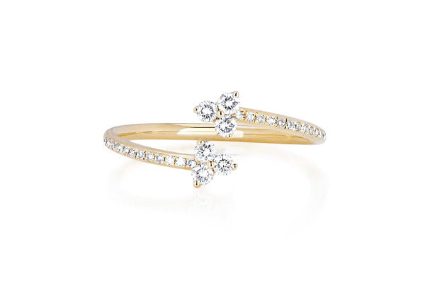 EF Collection Diamond Trio Twist Ring - 1
