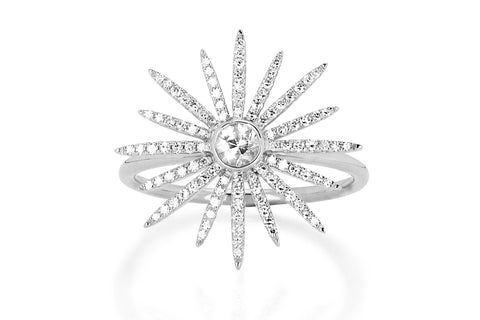 EF Collection Diamond Starburst Stud Earrings