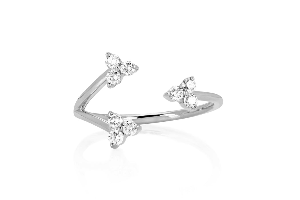 Open Diamond Triple Trio Ring