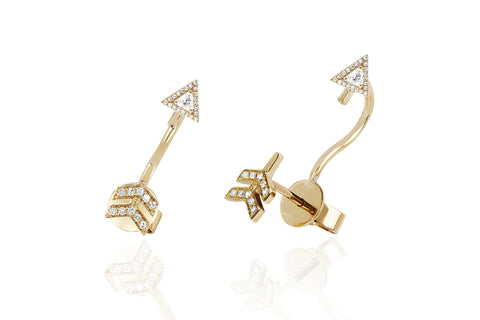 EF Collection Diamond White Topaz Arrow Ear Jacket