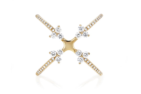 EF Collection Diamond 4 Trio Ring