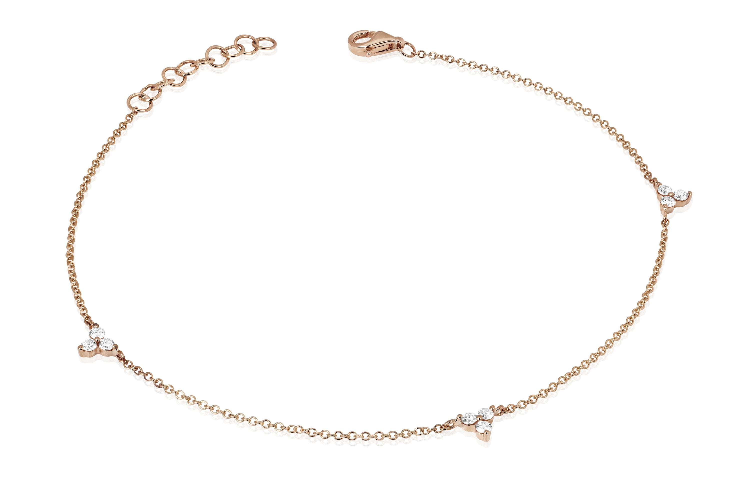 Diamond Triple Trio Anklet