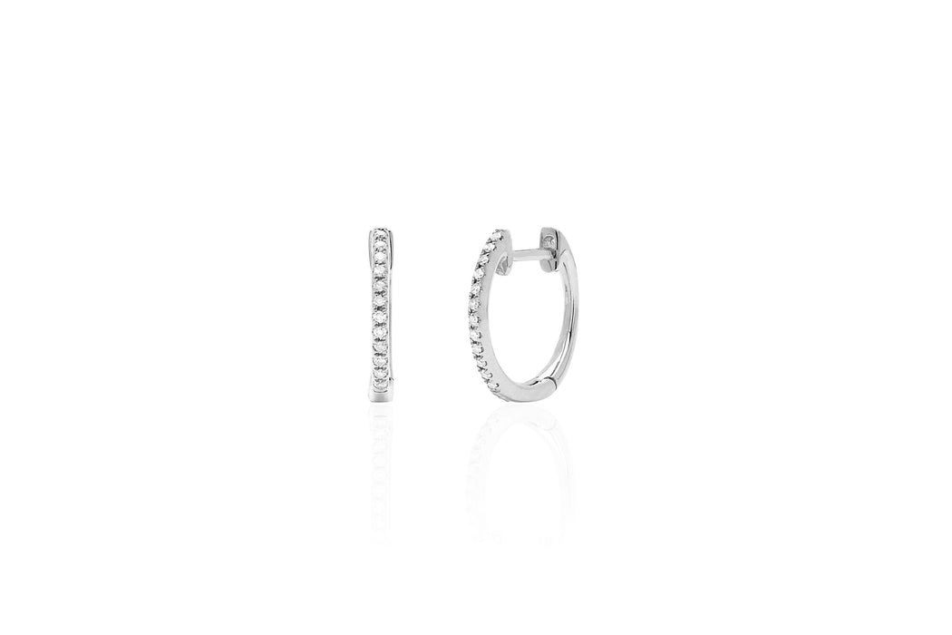 Diamond Mini Huggie Earring