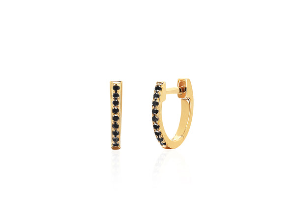 SoulCycle X EF Collection Black Diamond Mini Huggie Earring