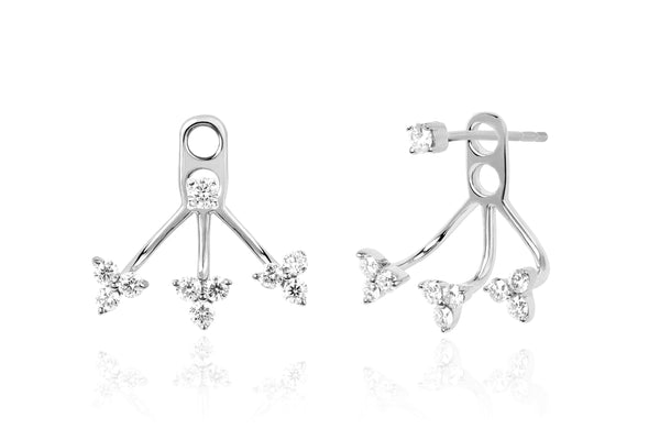 EF Collection Diamond Triple Trio Ear Jacket - 1
