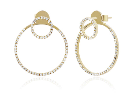 EF Collection Diamond Halo Ear Jacket - 1