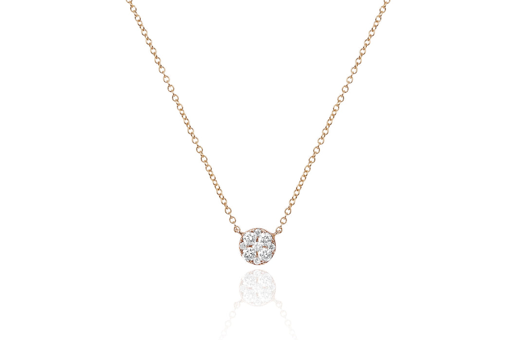 Full Cut Diamond Disc Choker Necklace