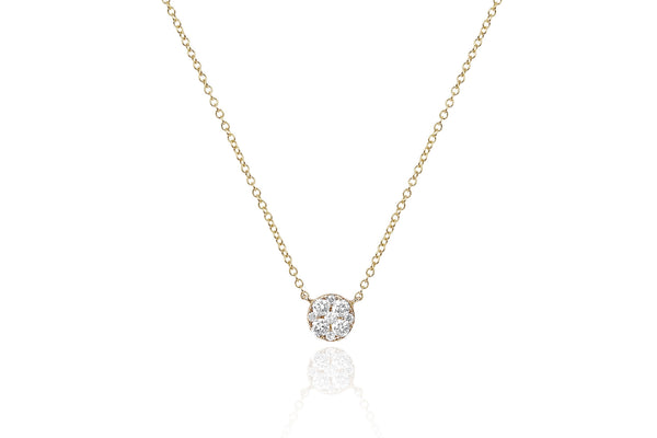 EF Collection Full Cut Diamond Disc Choker Necklace - 1