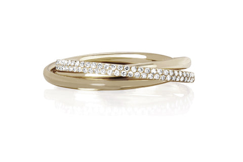 EF Collection Jumbo Triple Interlocking Eternity Ring - 1