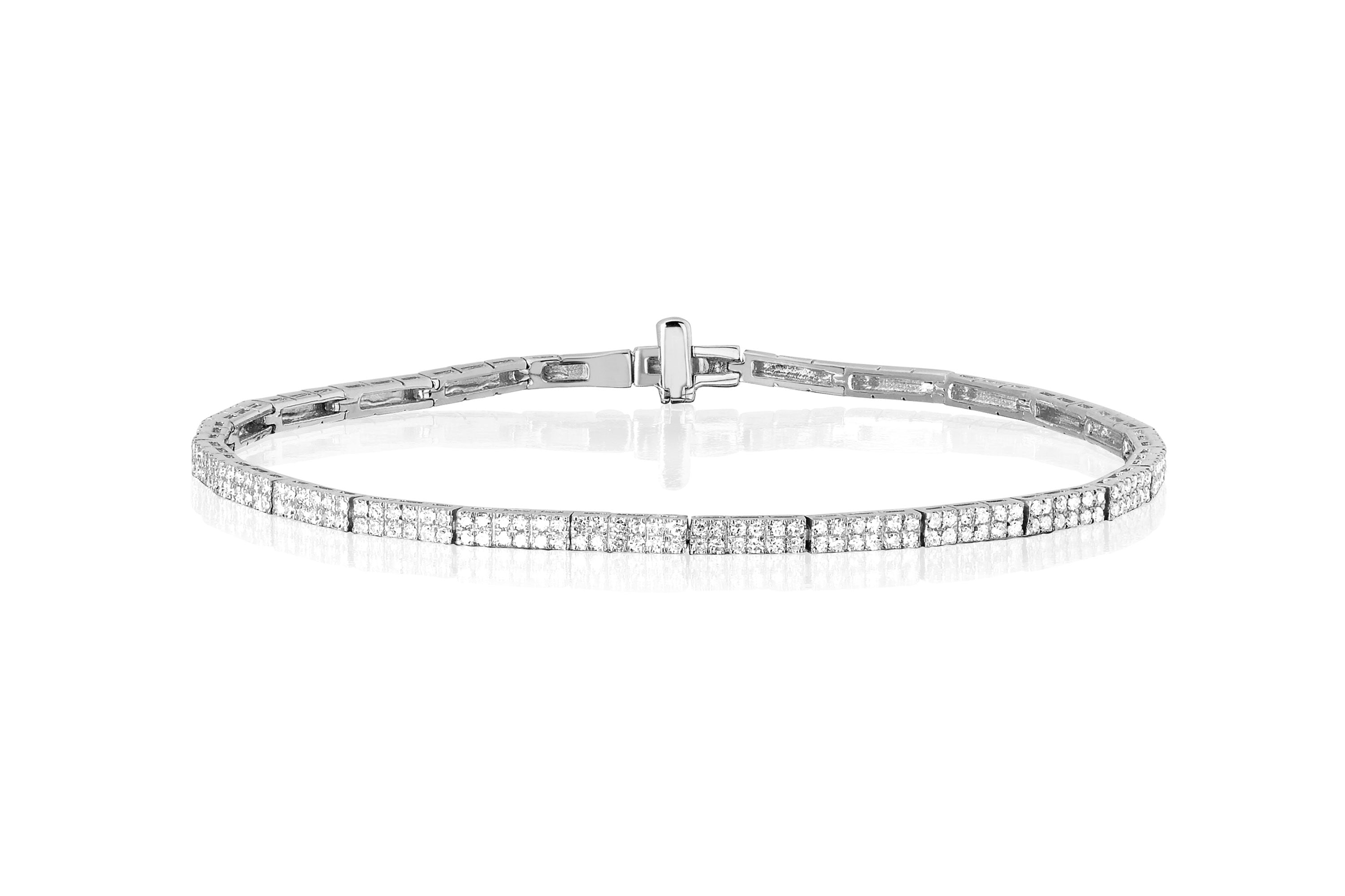 Diamond Double Row Eternity Bracelet