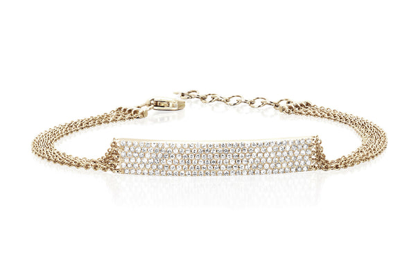 EF Collection Diamond Jumbo Bar Multi Chain Bracelet - 1