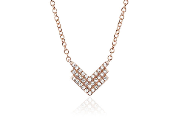 EF Collection Diamond Shield Necklace - 1