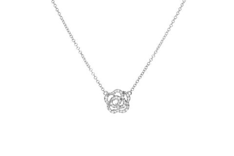 Diamond Rose Necklace