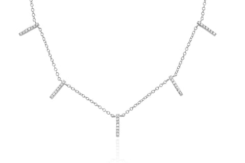 EF Collection Diamond 5 Bar Necklace