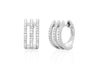 Diamond Triple Huggie Earring