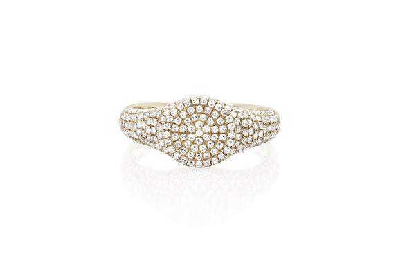 EF Collection Diamond Signet Ring - 1