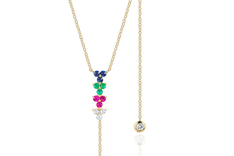 Rainbow Multi Trio Lariat