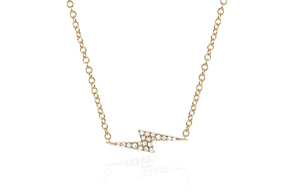EF Collection Diamond Lightning Bolt Necklace