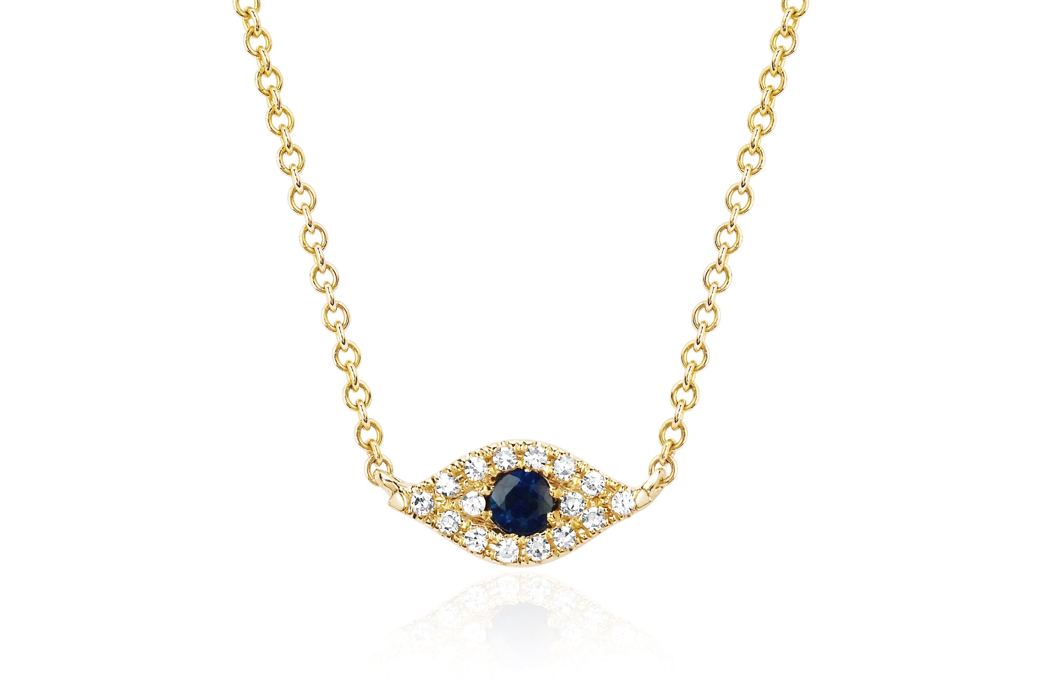 EF Collection 14k Diamond Evil Eye Pendant Necklace