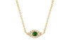 Diamond Tsavorite Evil Eye Choker