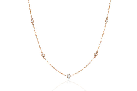 Diamond Teardrop Bezel Necklace