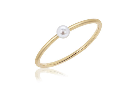 EF Collection Mini Pearl Stack Ring - 1