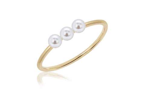 EF Collection Triple Pearl Stack Ring