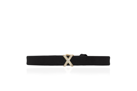 EF Collection Diamond X Leather Bracelet - 1