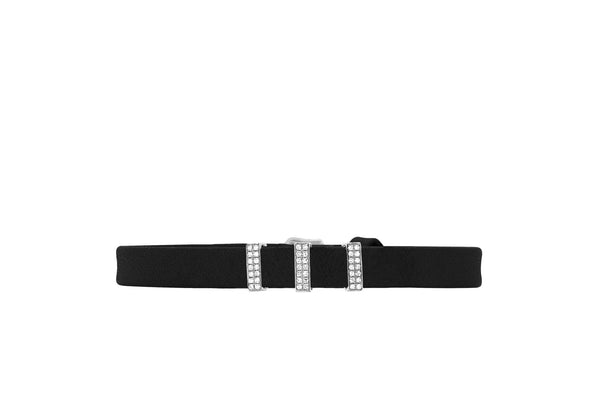 EF Collection Diamond Triple Bar Leather Bracelet - 1