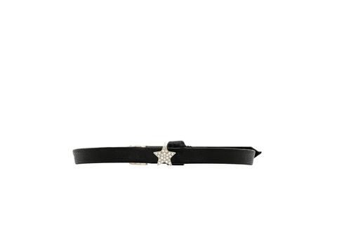 EF Collection Diamond Mini Star Leather Bracelet - 1