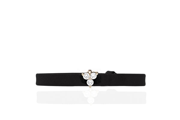 EF Collection Diamond Mini Trio Leather Bracelet