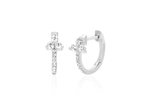 Diamond Trio Huggie Earrings