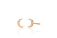 Gold Mini Moon Stud Earring