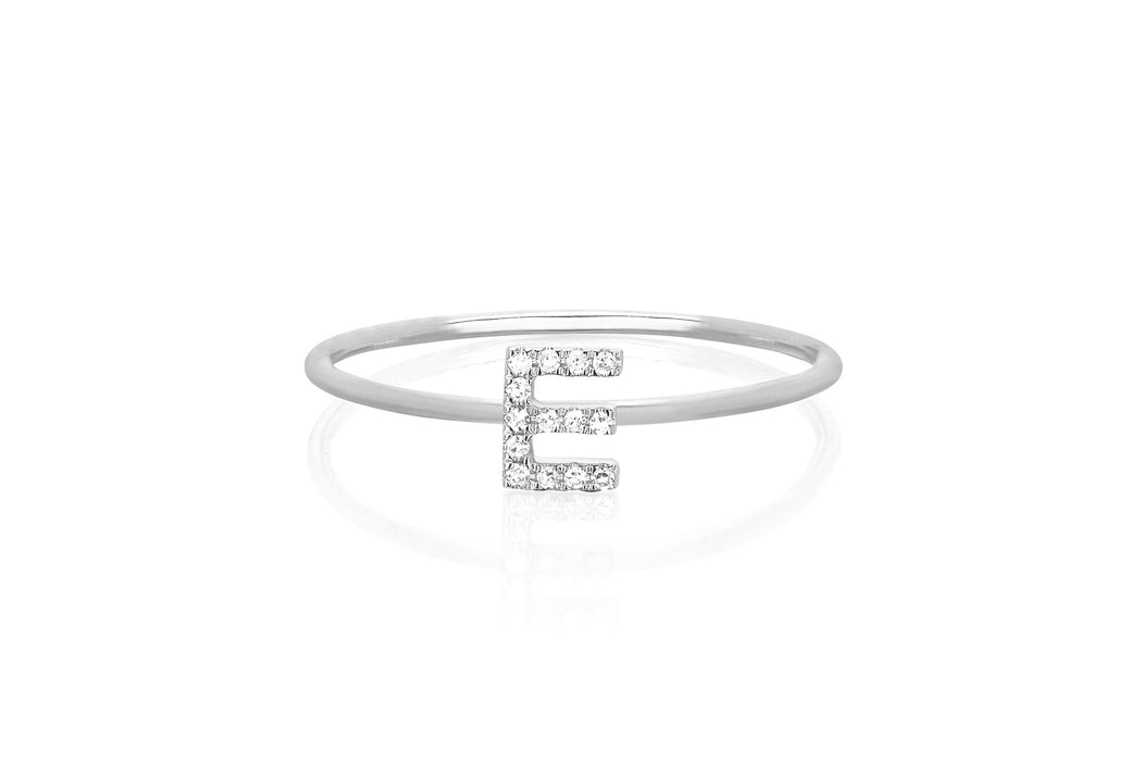 Diamond Initial Ring
