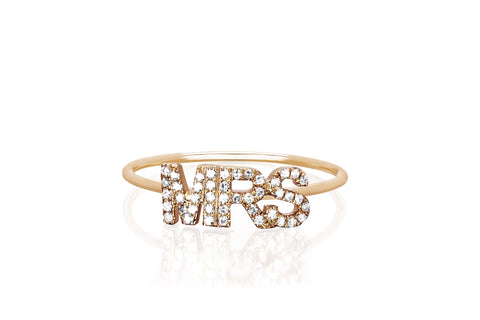 Diamond Mrs Stack Ring