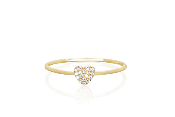 Mini Heart Stack Ring