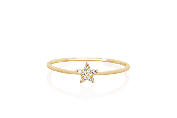 Diamond Mini Star Stack Ring