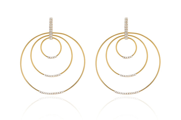 Diamond Multi Hoop Earring