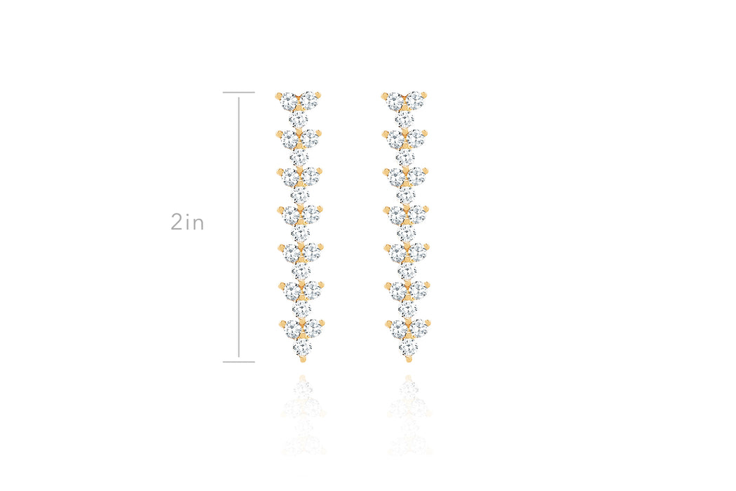 Diamond Trio Drop Earring