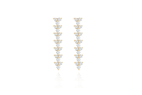 Diamond Trio Drop Earrings