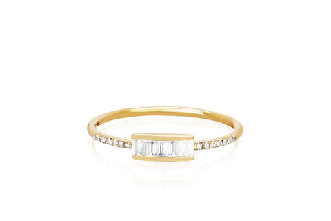 Diamond Baguette Stack Ring