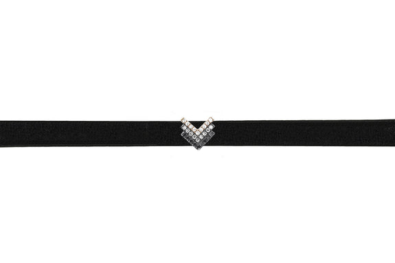 Diamond Fade Shield Leather Choker / Double Wrap Bracelet