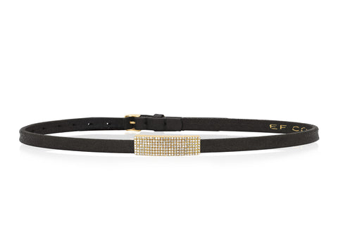 Diamond Jumbo Bar Leather Choker/Double Wrap Bracelet